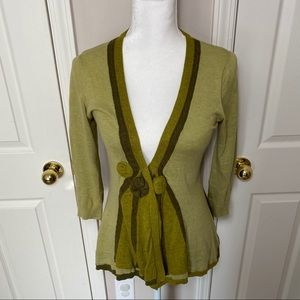 Sparrow by Anthropologie green cardigan size small